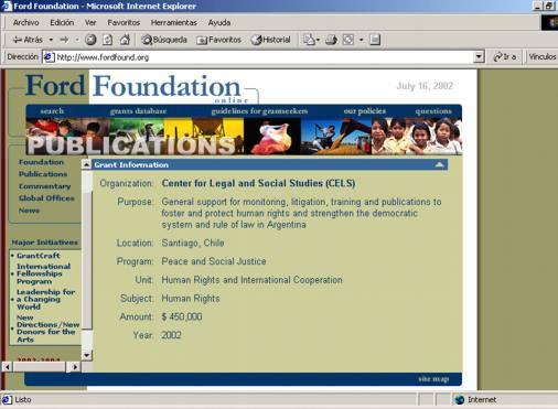 La Fundación FORD subvenciona a Verbitsky